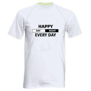 Męska koszulka sportowa Happy every day