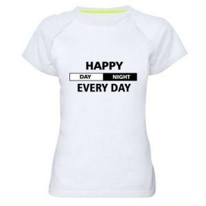 Damska koszulka sportowa Happy every day