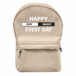 Plecak z przednią kieszenią Happy every day