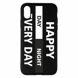 Etui na iPhone X/Xs Happy every day