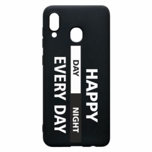 Etui na Samsung A20 Happy every day
