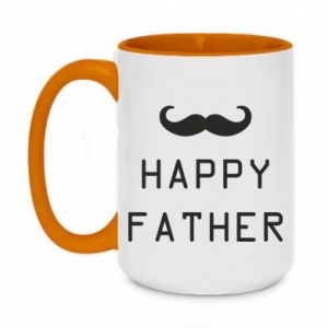 Two-toned mug 450ml Happy father