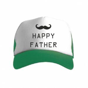 Czapka trucker dziecięca Happy father