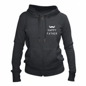 Damska bluza na zamek Happy father - PrintSalon