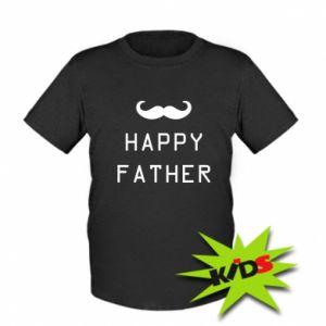 Dziecięcy T-shirt Happy father - PrintSalon