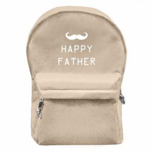 Plecak z przednią kieszenią Happy father - PrintSalon