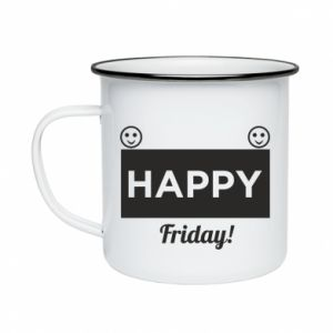 Kubek emaliowany Happy Friday