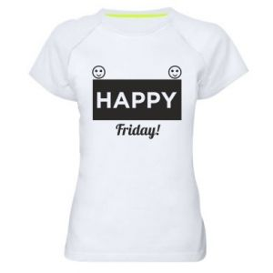 Koszulka sportowa damska Happy Friday