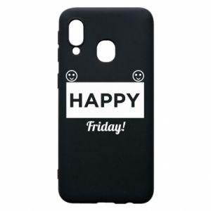 Etui na Samsung A40 Happy Friday