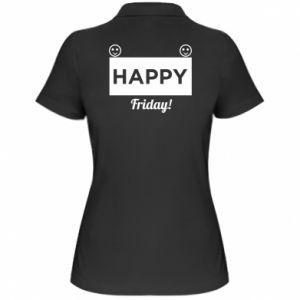 Koszulka polo damska Happy Friday
