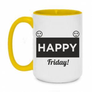 Kubek dwukolorowy 450ml Happy Friday
