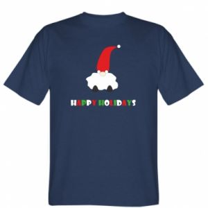 Koszulka męska Happy Holidays Santa