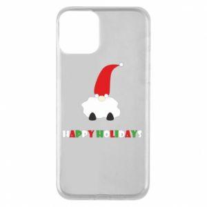 Phone case for iPhone 11 Happy Holidays Santa