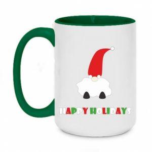 Kubek dwukolorowy 450ml Happy Holidays Santa