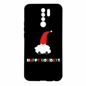 Etui na Xiaomi Redmi 9 Happy Holidays Santa