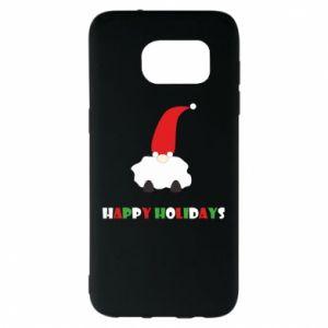 Etui na Samsung S7 EDGE Happy Holidays Santa