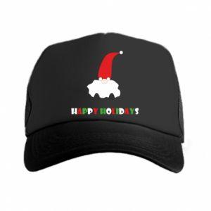 Czapka trucker Happy Holidays Santa