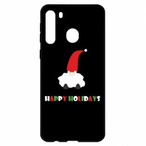 Etui na Samsung A21 Happy Holidays Santa