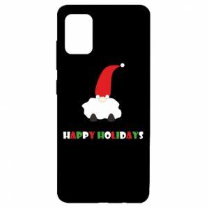 Etui na Samsung A51 Happy Holidays Santa