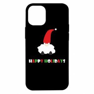 Etui na iPhone 12 Mini Happy Holidays Santa
