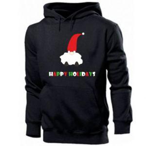 Bluza z kapturem męska Happy Holidays Santa