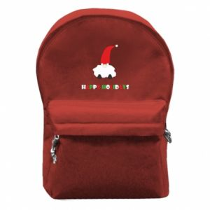 Plecak z przednią kieszenią Happy Holidays Santa