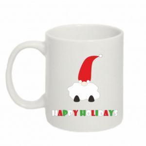 Mug 330ml Happy Holidays Santa