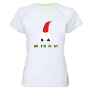 Koszulka sportowa damska Happy Holidays Santa