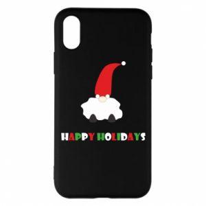 Etui na iPhone X/Xs Happy Holidays Santa