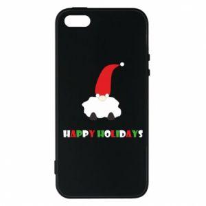 Etui na iPhone 5/5S/SE Happy Holidays Santa