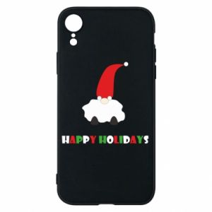 Etui na iPhone XR Happy Holidays Santa