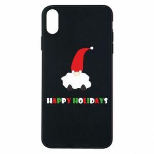 Etui na iPhone Xs Max Happy Holidays Santa
