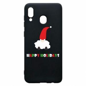Etui na Samsung A20 Happy Holidays Santa