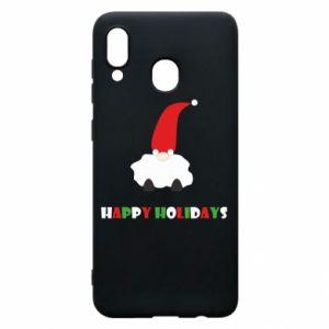 Etui na Samsung A30 Happy Holidays Santa