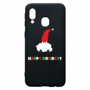 Etui na Samsung A40 Happy Holidays Santa