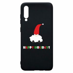 Etui na Samsung A70 Happy Holidays Santa