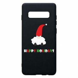 Etui na Samsung S10+ Happy Holidays Santa