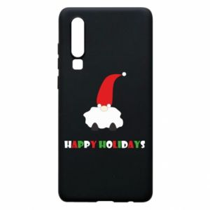 Etui na Huawei P30 Happy Holidays Santa