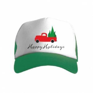 Czapka trucker dziecięca Happy Holidays!