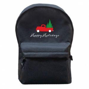 Plecak z przednią kieszenią Happy Holidays!
