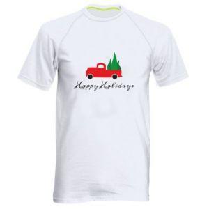 Koszulka sportowa męska Happy Holidays!
