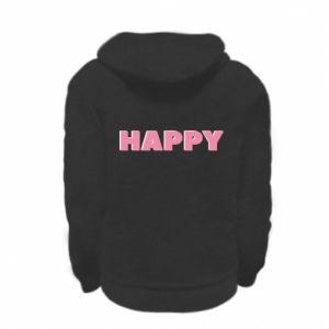 Bluza na zamek dziecięca Happy inscription