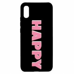 Etui na Xiaomi Redmi 9a Happy inscription