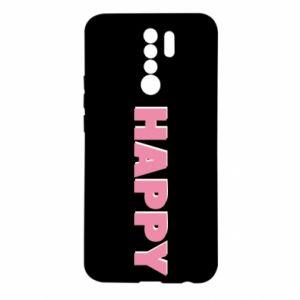 Etui na Xiaomi Redmi 9 Happy inscription