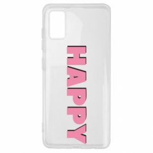 Etui na Samsung A41 Happy inscription