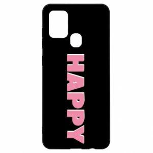 Etui na Samsung A21s Happy inscription