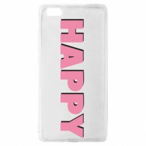 Etui na Huawei P 8 Lite Happy inscription