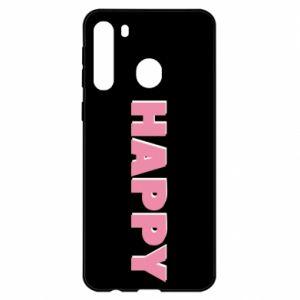 Etui na Samsung A21 Happy inscription