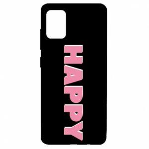 Etui na Samsung A51 Happy inscription