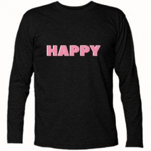 Koszulka z długim rękawem Happy inscription